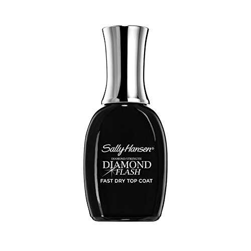 Sally Hansen Treatment Diamond Flash Fast Dry Top Coat 3482, 0.45 Ounce Nail Polish Topcoat for Home or Professional Manicure and Pedicure
