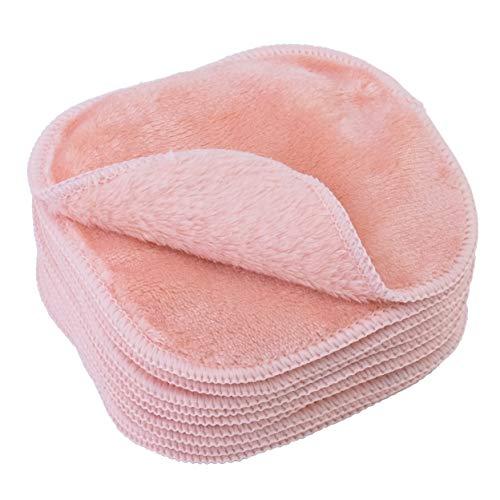Polyte - Premium-Abschminktuch aus Mikrofaser - hypoallergen & frei von Chemikalien - Mikrofaser-Fleece - 10 Stück (13x13 cm, Rosa)