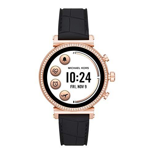 Michael Kors Smartwatch Pantalla táctil para Mujer de Connected con Correa en Silicona MKT5069
