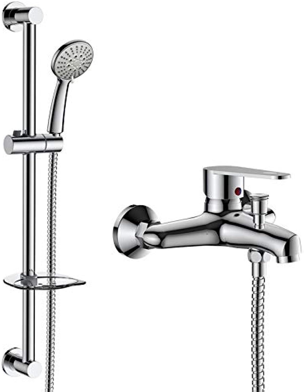 WTYNMOP Shower Set Copper Bathtub Faucet Shower Set