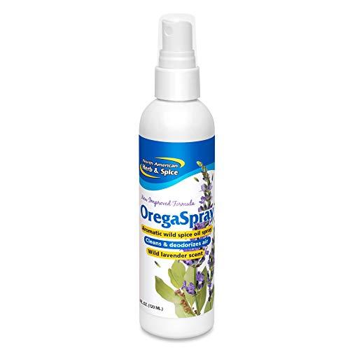 North American Herb & Spice OregaSpray - 4 fl. oz. - All-Natural Surface Cleaner, Air Deodorizer, & Vegetable Wash - Includes Clove, Cumin, Lavender, Oregano Oil - Non-GMO