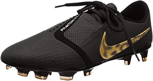 Nike Phantom Venom Pro FG Soccer Cleat (Black/Metallic Vivid Gold) (Men's 11/Women's 12.5)
