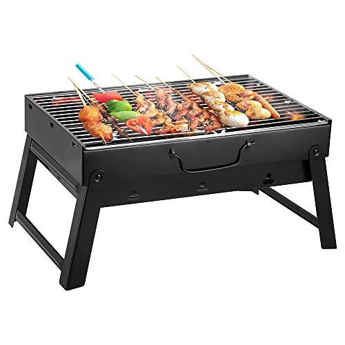 Weituoli Barbacoa plegable al aire libre, portátil engrosada para el hogar, barbacoas para fiestas, camping, picnic, herramienta