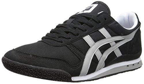 Onitsuka Tiger Ultimate 81 Classic Running Shoe, Black/Light Grey, 11 M US