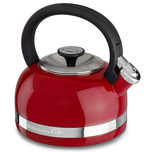 KitchenAid KTEN20CBEU Wasserkocher mit Griff und Zierband, 2 l 2 Quart Empire Rot
