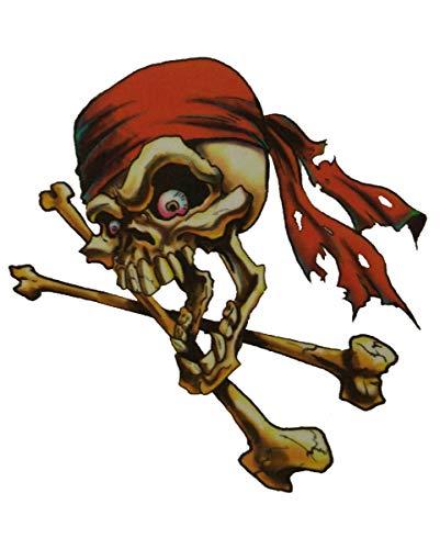 Horror-Shop Pirate Tattoo Red Bandana