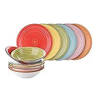 servizio piatti felicity multicolore, 12 pezzi multicolore
