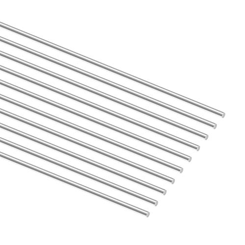 Sutemribor 2mm x 300mm Stainless Steel Model Straight Metal Round Shaft Rod Bars for DIY RC Car, RC Helicopter Airplane (10 PCS)