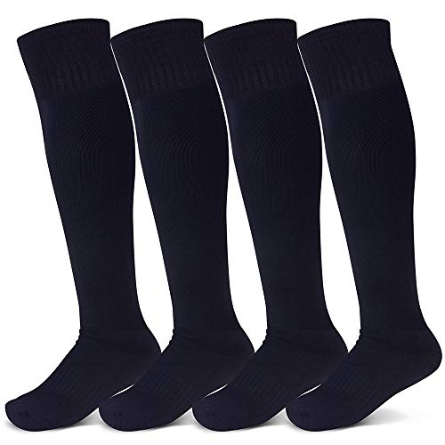 Raigoo Soccer Sock For Kids(4-16 Years Old), Sport Athletic Team Kneel High Socks For Youth Boys & Girls