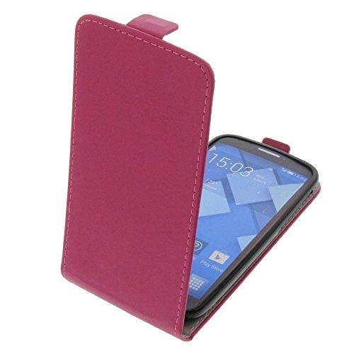 foto-kontor Tasche für Alcatel One Touch Pop C7 Smartphone Flipstyle Schutz Hülle pink