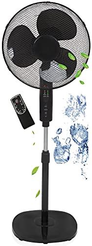 Standventilator Ø41 cm | 40 Watt | 3 Stufen | Oszillierend | Leiser Betrieb | Ventilator | 180° Rotation | Turmventilator | Luftkühler | Bodenventilator (Mit Fernbedienung)