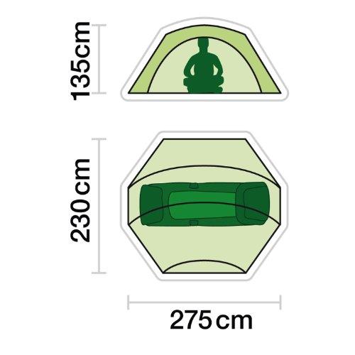 JRC Contact Lightweight Waterproof 1 or 2 Man Carpfishing Bivvy or Overwrap - Green