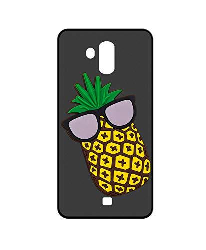 Sunrive Für HOMTOM S7 Hülle Silikon, Handyhülle matt Schutzhülle Etui 3D Hülle Backcover für HOMTOM S7(W2 Ananas) MEHRWEG+Gratis Universal Eingabestift