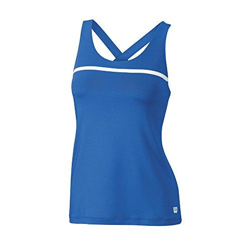 Wilson W Team NW Camiseta sin Mangas de Tenis, Mujer, Azul, M