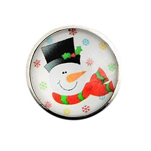 Andante CHUNK Click-Button drukknop (sneeuwman) voor chunk-armbanden, chunk-ringen en andere chunk-accessoires
