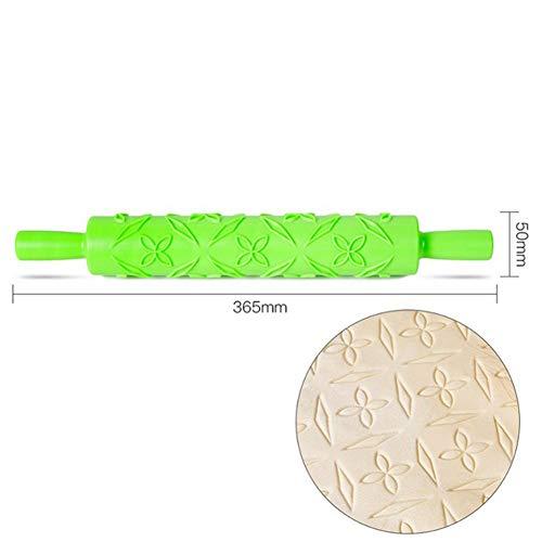 Daxoon deegroller pastafel met patroon reliëf kunststof anti-aanbaklaag fondant pastasrol voor gebakjes decoratie gereedschap