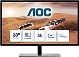 AOC Monitor U2879VF- 28' UHD, 60 Hz, 1ms, TN, FreeSync, 3840x2160, 300 cd/m, D-SUB, HDMI 1x2.0, Displayport 1x1.2