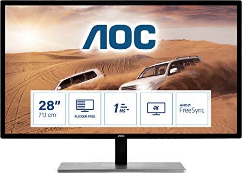 """AOC Monitor U2879VF- 28"""" UHD, 60 Hz, 1ms, TN, FreeSync, 3840x2160, 300 cd/m, D-SUB, HDMI 1x2.0, Displayport 1x1.2"""