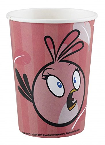 amscan 266 ml Angry Birds Pink Pappbecher