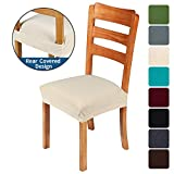 smiry Stretch Jacquard Chair Seat Covers for Dining Room, Removable Washable...