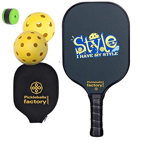 Pickleball Racchette, Pickleball Pagaie, Paletta Pickleball, Pickleball, Pickleball Palla, Pickle Ball Game Set, I HAVE MY STYLE Pickleball Racchetta, Pickle Ball Racket, tennis ball hopper
