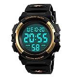 Kid's Watch,Boys Watch Digital Sport Outdoor Multifunction Chronograph LED 50M Waterproof Alarm Calendar