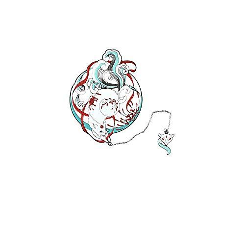 DPFXNN Segnalibro Scheletro in Metallo, Stile Classico Cinese, a Forma di Volpe, antiossidazione, Non Facile da sfumare, Adatto per la Tua Collezione o Come Regalo per la Festa degli Insegnanti