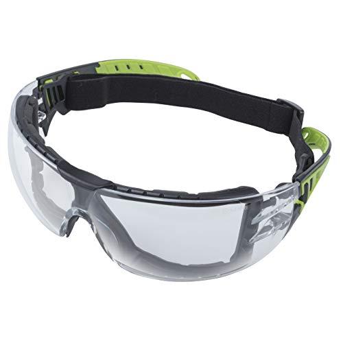 wolfcraft 4907000 Schutzbrille Sport-mit Bügel und verstellbarem Gummiband
