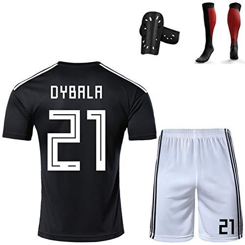 CBVB Fußball-Sportbekleidung, Sommer für Erwachsene, Trikot von Di María Dybala, Argentinien, Trainingsuniformen der Nationalmannschaft können individuell angepasst Werden, Unisex-Anzüge-black21-XXL
