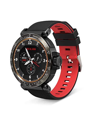 BlitzWolf Smart Watch, Orologio Fitness Uomo Donna Impermeabile IP68, Full Touch Screen Smartwatch, Cardiofrequenzimetro da Polso, Contapassi Smartband, Activity Tracker per Android & iOS -Resso