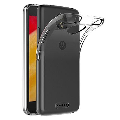 AICEK Motorola Moto C Plus Hülle, Transparent Silikon Schutzhülle für Moto C Plus Hülle Crystal Clear Durchsichtige TPU Bumper Lenovo Moto C Plus Handyhülle