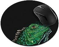 滑り止めの丸いマウスパッド たっての熱 ホームオフィスとゲームデスク用の子鹿ポメラニアンマウスパッド-GreenIguana