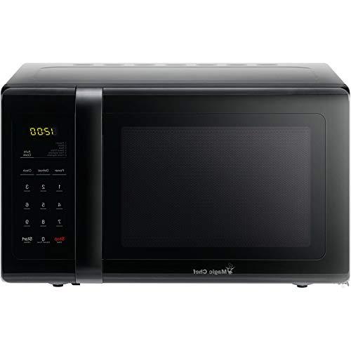 OKSLO 0.9 cu. ft. 900w countertop microwave oven in black