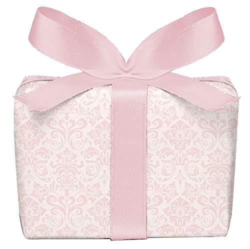 5er Set Geschenkpapier 5 Bögen mit ORNAMENTEN ROSA Mädchen Kinder Kindergeburtstag Baby Geburt Taufe, gedruckt auf PEFC zertifiziertem Papier, 50 x 70 cm