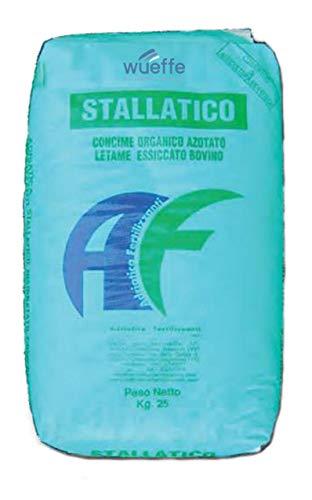 WUEFFE Stallatico Pellet - Sacchi da kg 25 - Concime Naturale ammendante pellettato (4 Sacchi da kg.25)