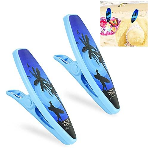 ZACUDA 2 PCS Clips de Plástico para Toallas Pinzas Grandes para Colgar Ropa con Forma de Velero Pinzas para Toalla de Playa Clips para Toallas para Tumbonas Pinzas de Plástico para Toallas Sábana ⭐