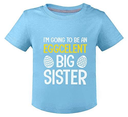Green Turtle Easter Eggcelent Big Sister Humour Grande Soeur T-Shirt Bébé Unisex 18M Bleu Ciel