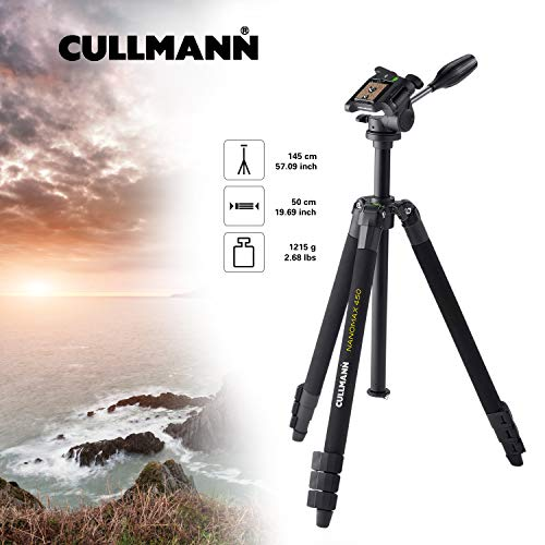 Cullmann Nanomax 450 RW20 - Trípode Completo (Aluminio), Negro