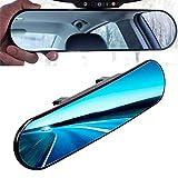 Kentop Espejo retrovisor panorámico para coche, interior universal, antirreflejos, redondo, con ajuste de ángulo