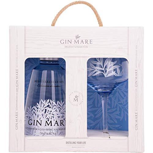 Gin Mare Set - Gin Mare Gin 700ml (42,7{5289b4bd604a7a4fe798aa6041080c0c58e8beb584da1ffca3e92e7bd38e6b62} Vol) + Ballonglas