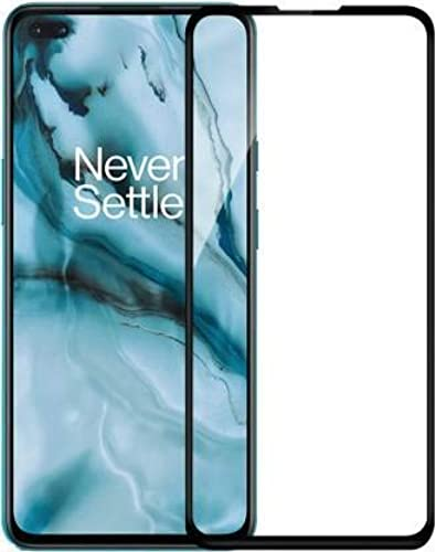 Rexez Full HD Display Fit Case Friendly Black Rim OG Easy Install Tempered Glass Screen Guard for One Plus Nord Transparent