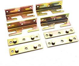 Bed Rail Bracket Tiberham 4 Sets Non-Mortise Bed Hinge Fixing Connector Heavy Duty Bed Rail Faster Fitting Hardware