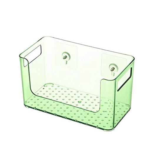 ZYING Plataforma de baño Moderno y Sencillo cosmética Caja de Almacenamiento, baño ponche Estante Libre, montado en la Pared de Almacenamiento en Rack plástico de Escritorio del Maquillaje de la Caja