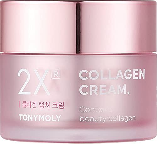 Tony Moly - 2X Collagen Capture Cream, Crema Hidratante Antiedad, 50ml
