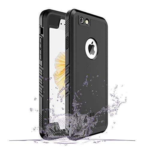 Cozycase Waterproof Case for iPhone 6/6s, Shockproof Full-Body Rugged Case with Built-in Screen Protector for Apple iPhone 6/6s -(Black)