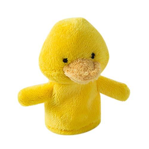 Colcolo Marionetas de Dedo de Animales Bebé Educativo Dedos Juguetes Enseñanza Mostrar Regalo para Niños - Pato Amarillo