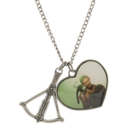 Walking Dead Daryl Dixon Heart Crossbow Charm Necklace