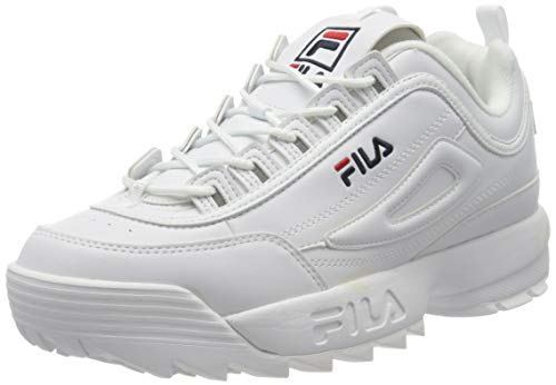Fila Disruptor Low, Scarpe da Ginnastica Basse Uomo, Bianco (White 1fg), 46 EU