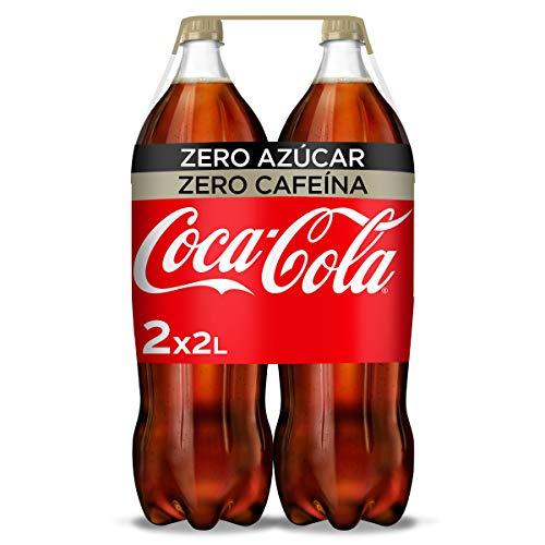 Coca-Cola Zero Azúcar Zero Cafeína - Refresco de cola sin azúcar, sin...