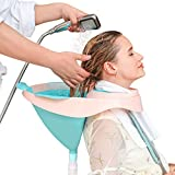 Exttlliy Foldable Hair Shampoo Basin Portable Shampoo Bowl with Removable Drain Tube and Strap for Pregnant Women/Elderly/Inconvenient People